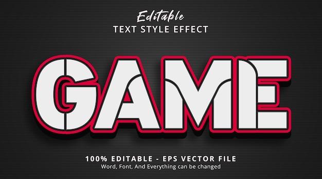 Effet de texte modifiable, texte de jeu sur l'effet de style gras