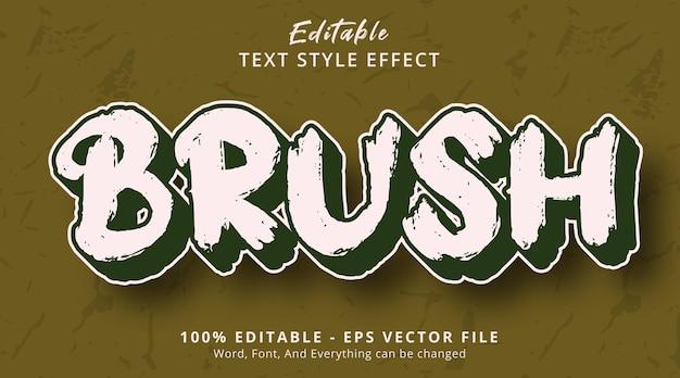 Effet de texte modifiable, texte de pinceau avec effet de style en couches de titre