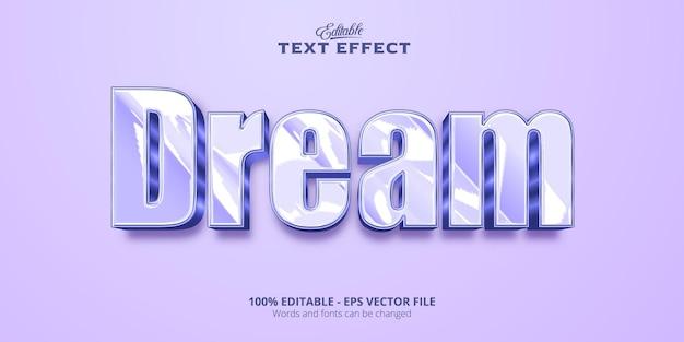 Effet de texte modifiable, texte de rêve