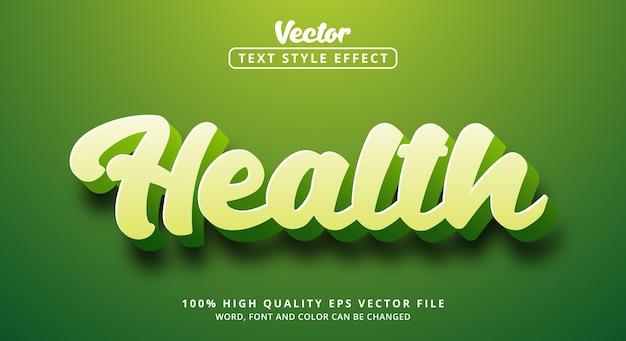Effet de texte modifiable, texte sain sur un style de couleur vert clair