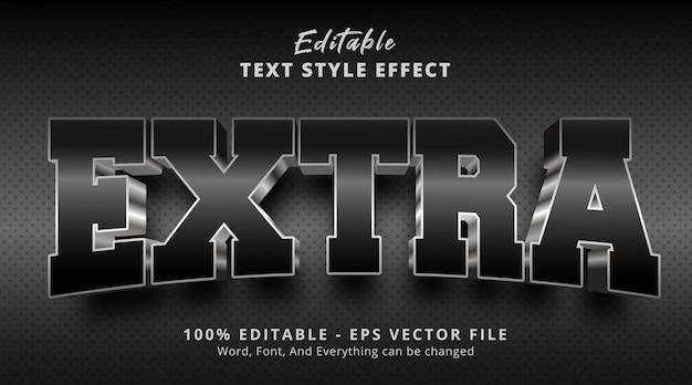 Effet de texte modifiable, texte supplémentaire sur l'effet de style de logo de titre