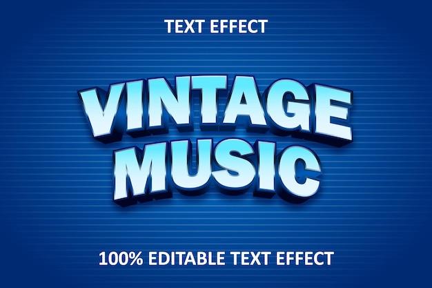Effet de texte modifiable de texte vintage bleu