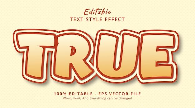 Effet de texte modifiable, texte vrai sur un style de couleur fantaisie
