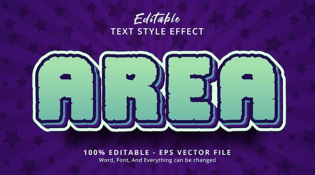 Effet de texte modifiable, texte de zone sur le style de couleur comique populaire