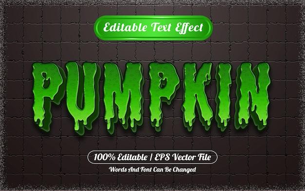 Effet de texte modifiable sur le thème de la citrouille d'halloween