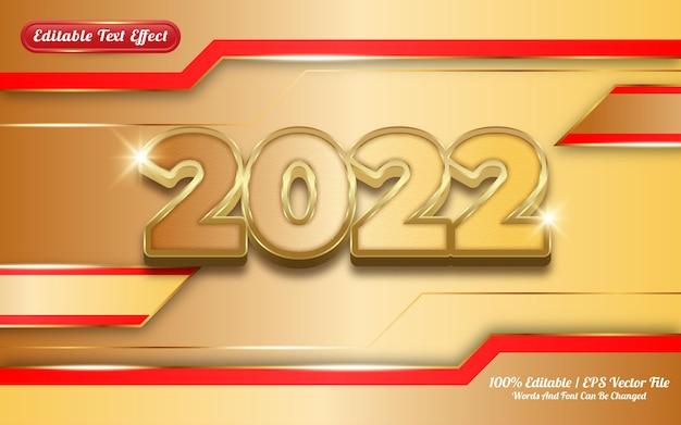 Effet de texte modifiable sur le thème doré 2022