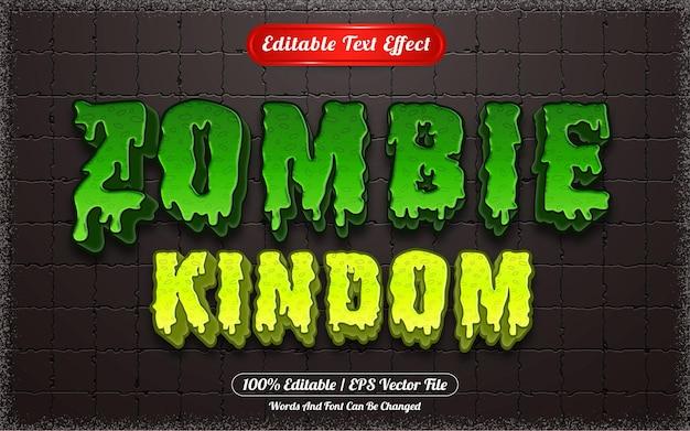 Effet de texte modifiable sur le thème du royaume zombie halloween