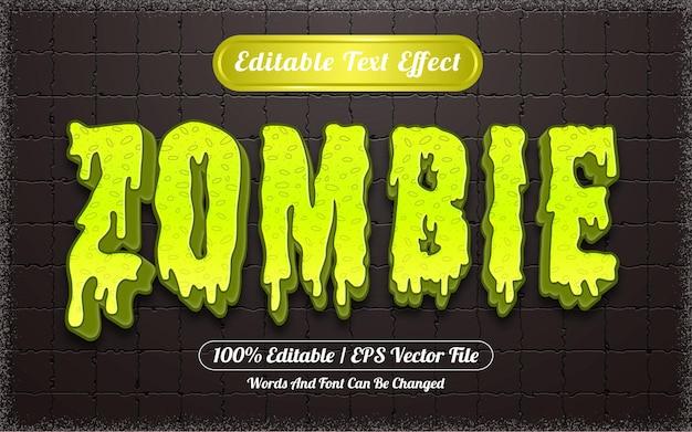 Effet de texte modifiable sur le thème d'halloween zombie