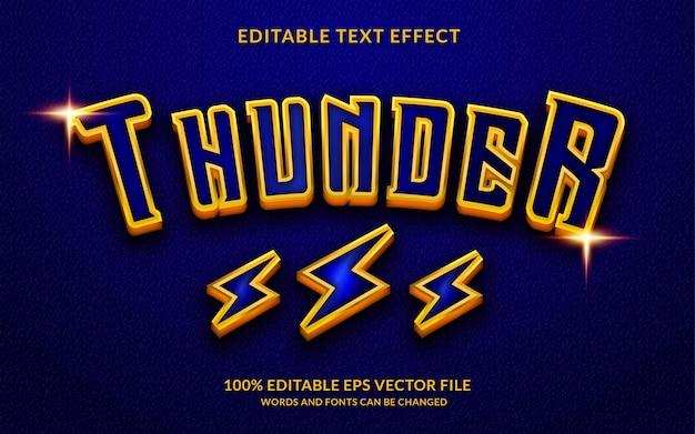 Effet de texte modifiable thunder