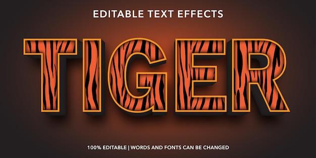 Effet de texte modifiable de tigre