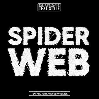 Effet de texte modifiable de toile d'araignée