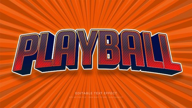Effet de texte modifiable de typographie de baseball