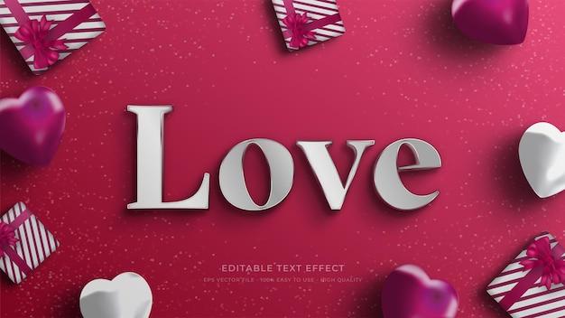 Effet de texte modifiable de typographie valentine