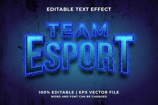 Effet de texte modifiable - vecteur premium de style de modèle de sport d'équipe