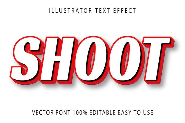 Effet de texte modifiable de vecteur de tir