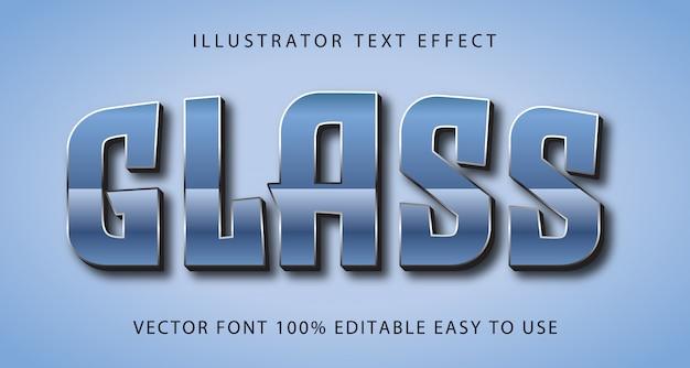 Effet de texte modifiable de vecteur de verre
