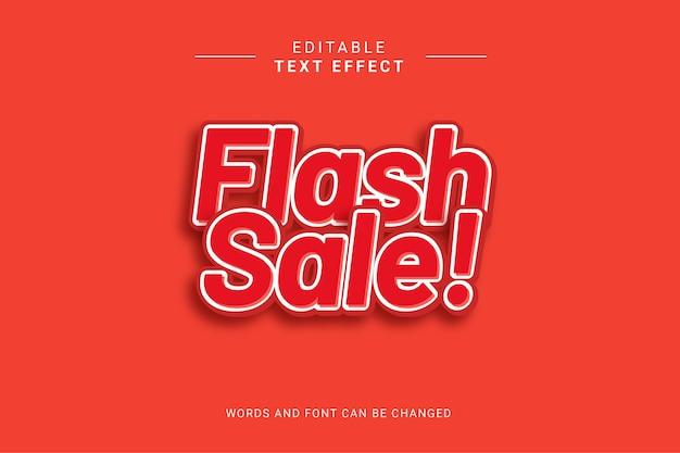 Effet de texte modifiable de vente flash. couleur rouge audacieuse.