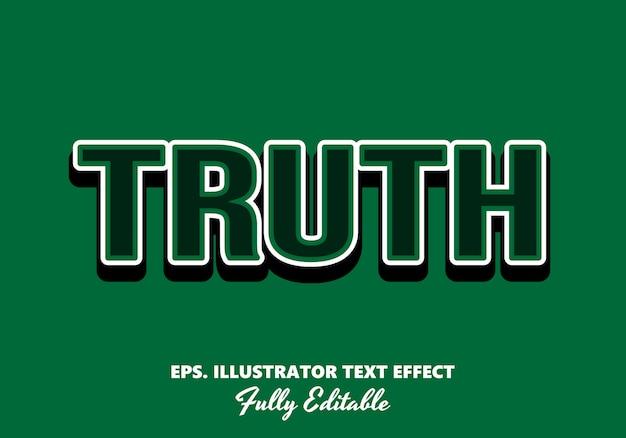 Effet de texte modifiable de vérité