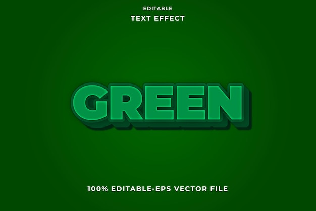 Effet de texte modifiable vert simple