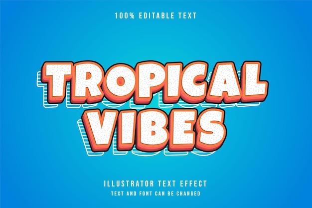 Effet de texte modifiable de vibes tropicales avec dégradé orange