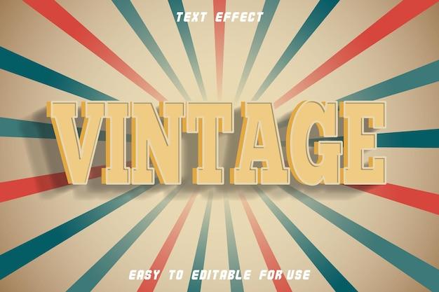 Effet de texte modifiable vintage gaufrage style vintage