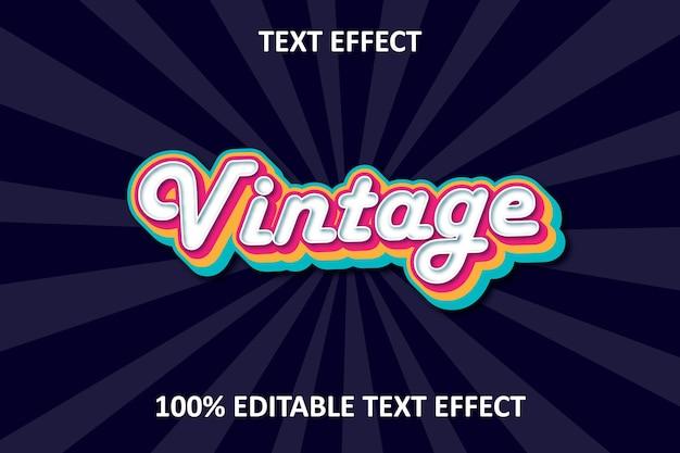 Effet de texte modifiable vintage rétro arc-en-ciel