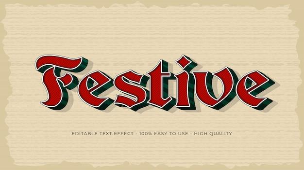 Effet de texte modifiable vintage