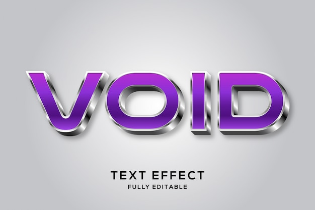 Effet de texte modifiable violet et argent futuriste