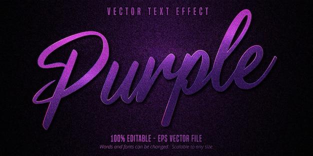 Effet de texte modifiable violet de luxe