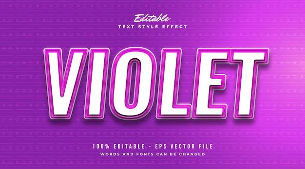 Effet de texte modifiable en violet avec un style moderne et futuriste
