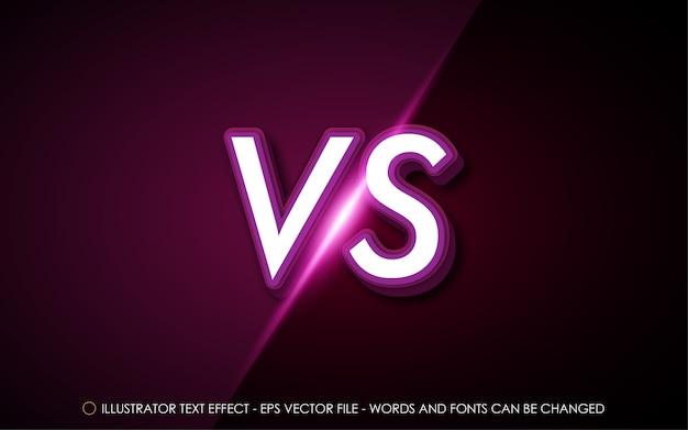 Effet de texte modifiable vs contre illustration de style