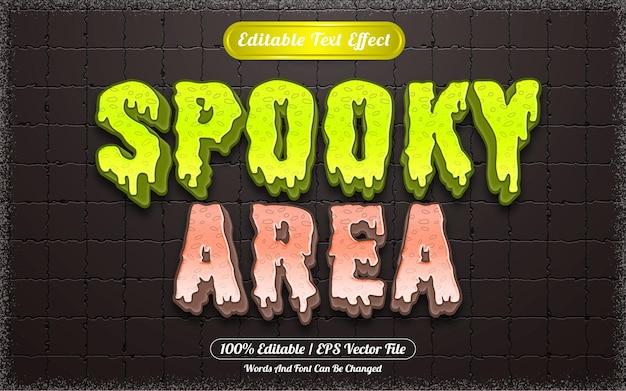 Effet de texte modifiable zone fantasmagorique sur le thème d'halloween
