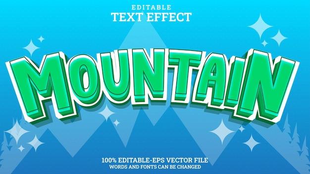 Effet de texte montagne modifiable