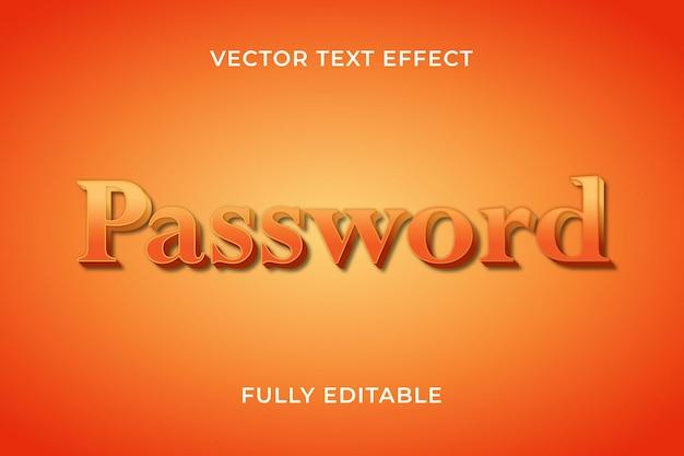 Effet de texte de mot de passe