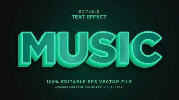 Effet de texte musical humeur nocturne modifiable