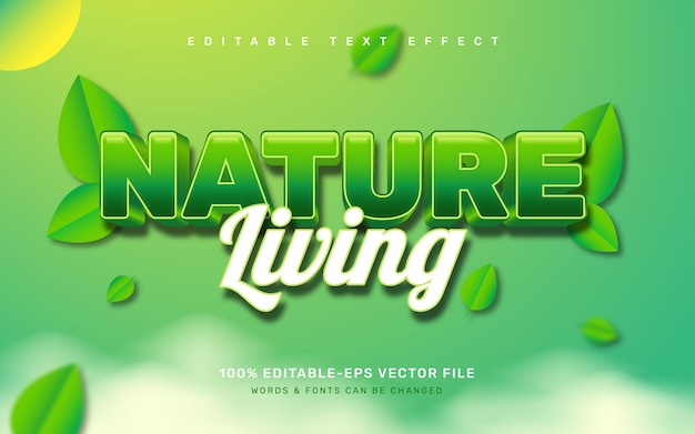 Effet de texte nature