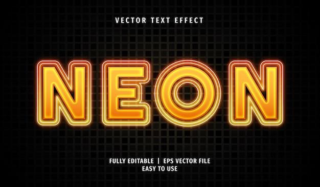 Effet de texte néon 3d, style de texte modifiable