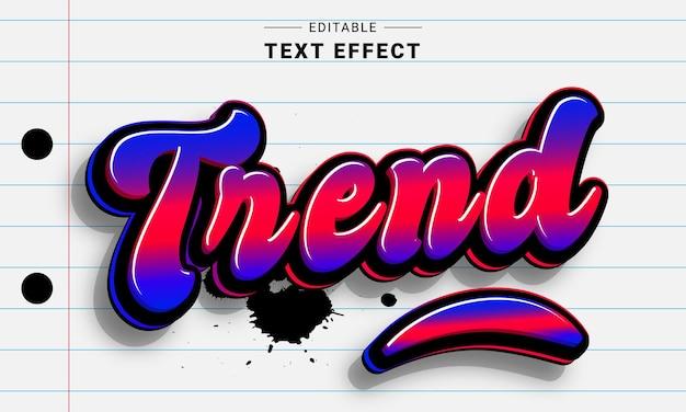 Effet de texte néon modifiable pour illustrateur