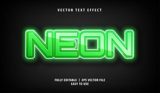 Effet de texte néon, style de texte modifiable