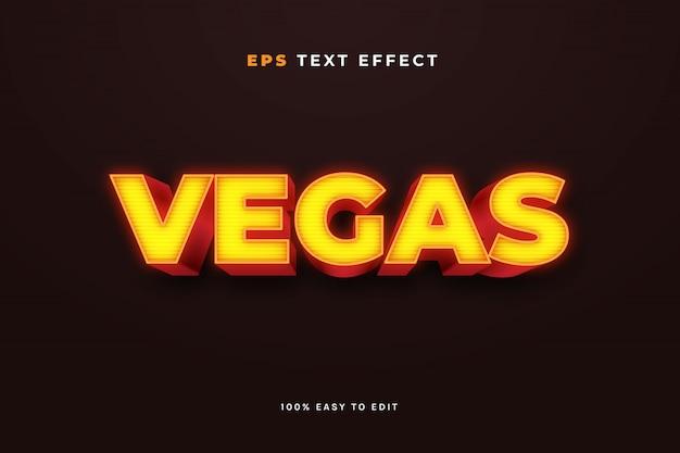 Effet de texte neon vegas