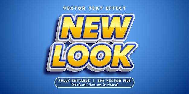 Effet de texte new look, style de texte modifiable