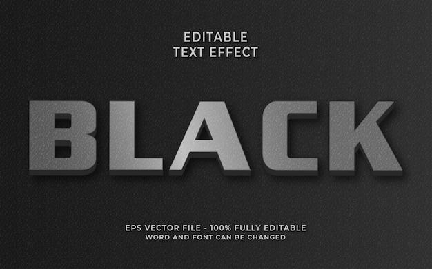 Effet de texte noir créatif