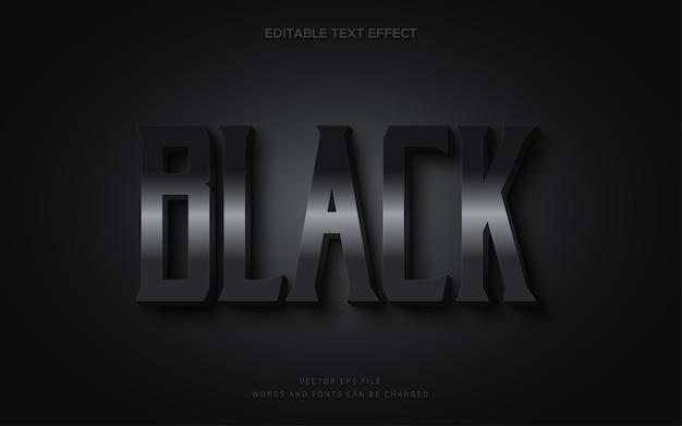 Effet de texte noir modifiable3d