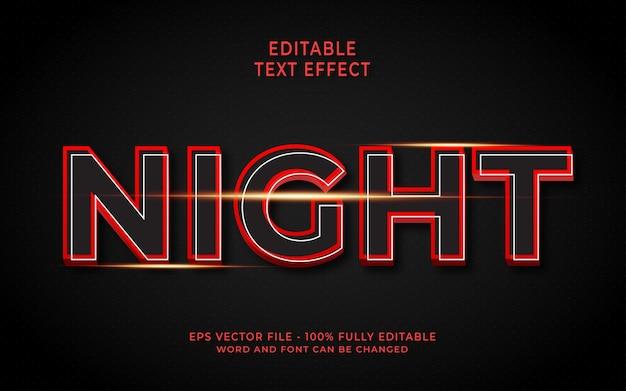 Effet de texte de nuit