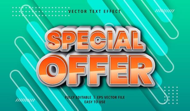 Effet de texte d'offre spéciale 3d, style de texte modifiable