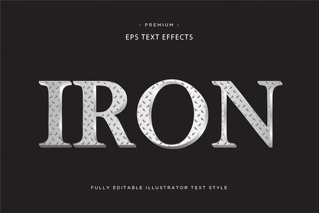 Effet de texte d'ombre de couleur de style de texte de vague