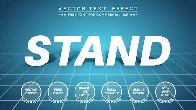 Effet de texte d'ombre de stand