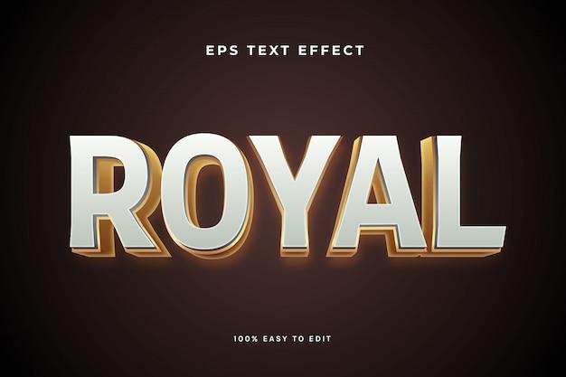 Effet de texte en or blanc royal