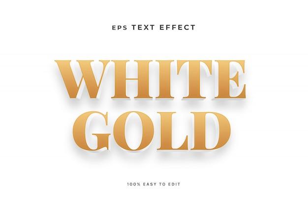 Effet de texte en or blanc