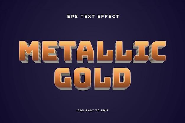 Effet de texte or métallique